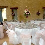 le domaine de la cour - salle de mariage normandie décoration de table