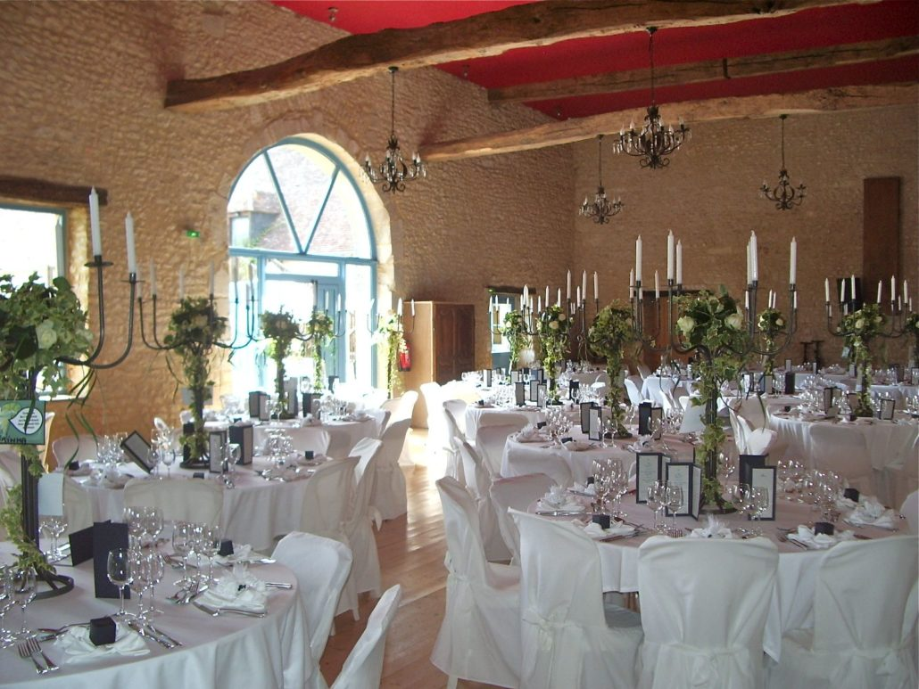 salle mariage décoration table
